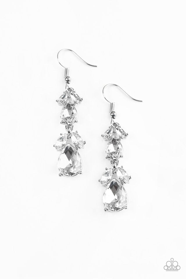 Trophy Hall White Earring