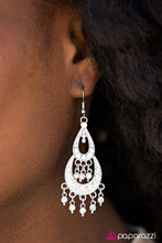 Load image into Gallery viewer, Glitter Makes Everything Better White Earring