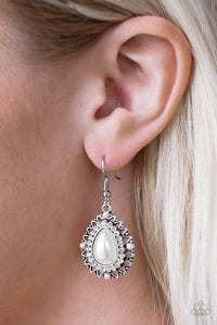 Red Carpet Sparkle White Earring