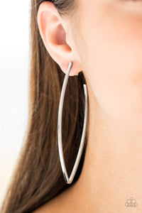 Nothing But Trouble Hoop Silver Earring