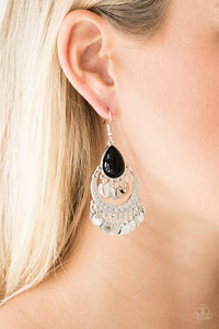 Bodaciously Boho Black Earring