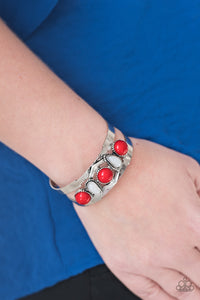 Keep on TRIBE-ing Red Bracelet