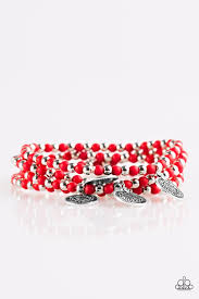 Gypsy Globetrotter Red Bracelet
