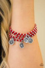 Load image into Gallery viewer, Gypsy Globetrotter Red Bracelet