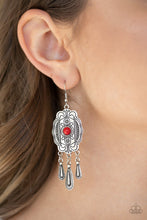Load image into Gallery viewer, Natural Native Red Earring