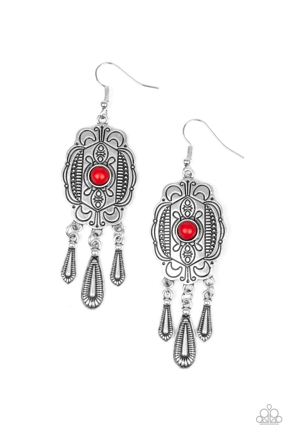 Natural Native Red Earring