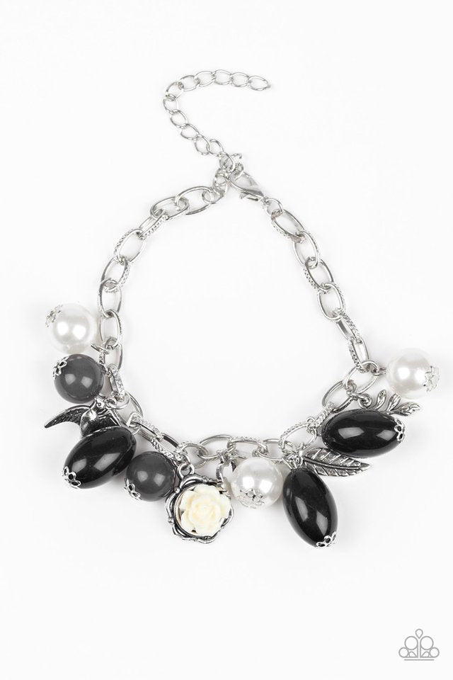 Love Doves Black Bracelet