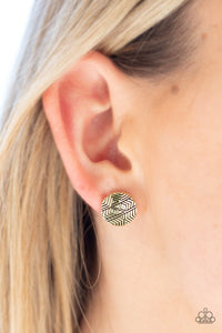 Bright As A Button Post Brass Earring