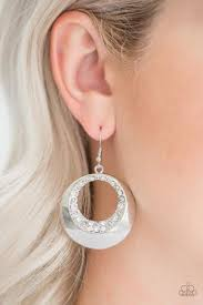 Ringed In Refinement White Earring
