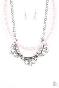 Bow Before The Queen Pink Necklace
