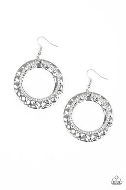 Cinematic Shimmer White Earring