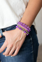 Load image into Gallery viewer, Layered Luster Purple Bracelet