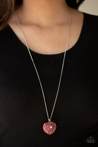 Love Is All Around Red Necklace