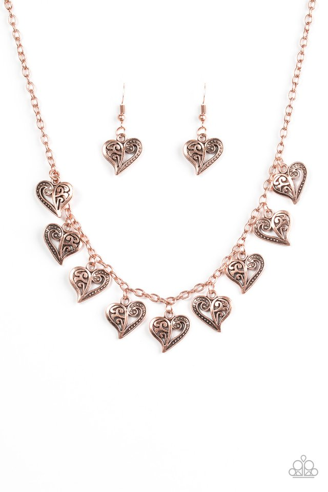 Speaking From The Heart Copper Necklace