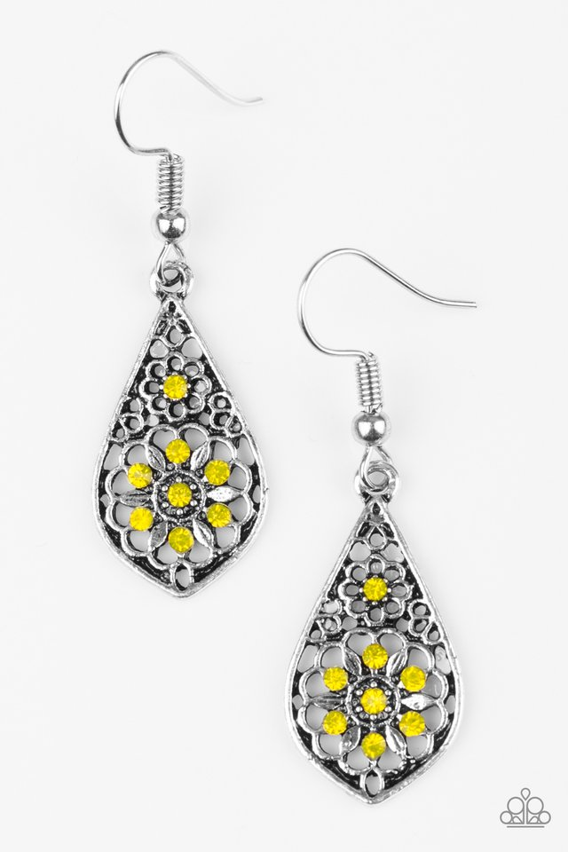 Spring Sparkle Yellow Earring
