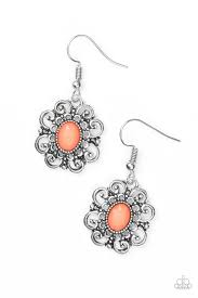 First and Foremost Flowers Orange Earring