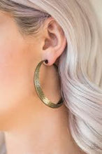 Load image into Gallery viewer, Jungle To Jungle Hoop Brass Earring