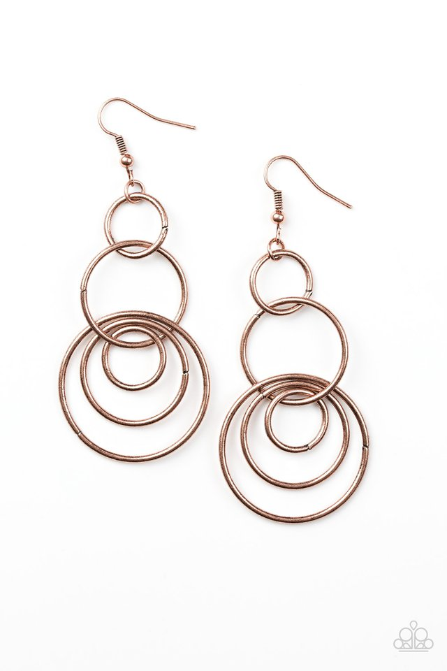 Chic Circles Copper Earring