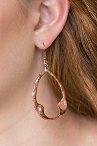 Twist Me Round Copper Earring