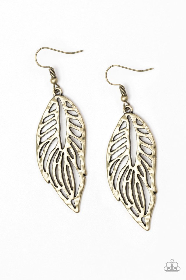 Come Home To Roost Brass Earring
