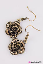 Load image into Gallery viewer, Give Her Roses Brass Earring