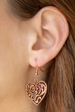 Load image into Gallery viewer, The Truth HEARTS Copper Earring