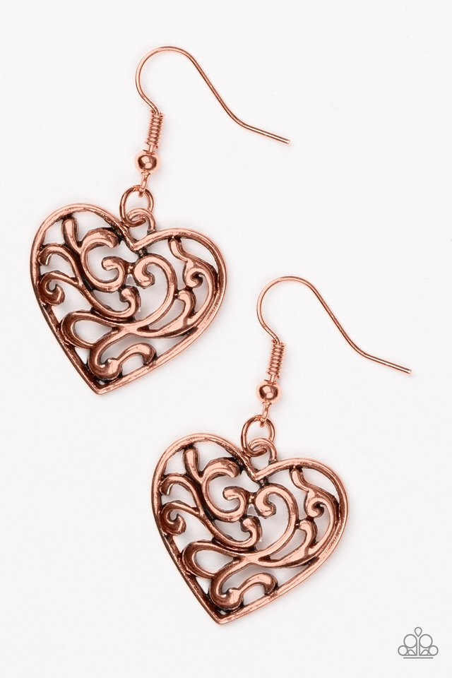 The Truth HEARTS Copper Earring