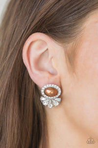 Happily Ever After-Glow Post Brown Earring