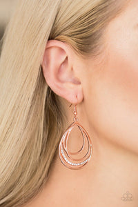 Start Each Day With Copper Earring