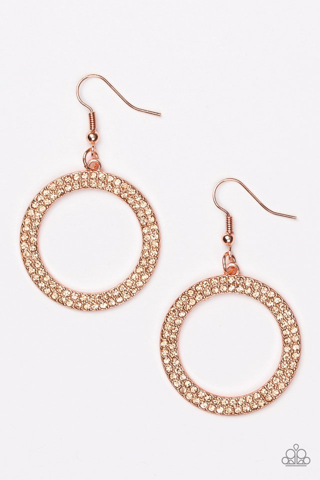 Bubbly Babe Copper Earring