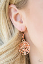 Load image into Gallery viewer, TREE Ring Circus Copper Earring
