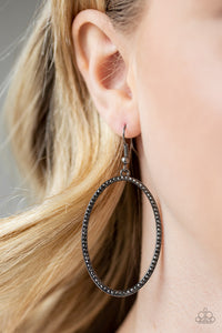 Dazzle On Demand Black Earring