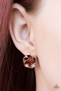 GARDENIA Variety Post Copper Earring