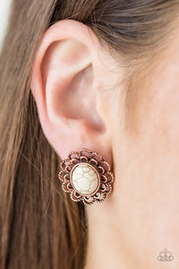 Turn To Stone Post Copper Earring