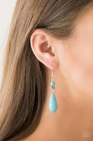Sandstone Sunflowers Blue Earring