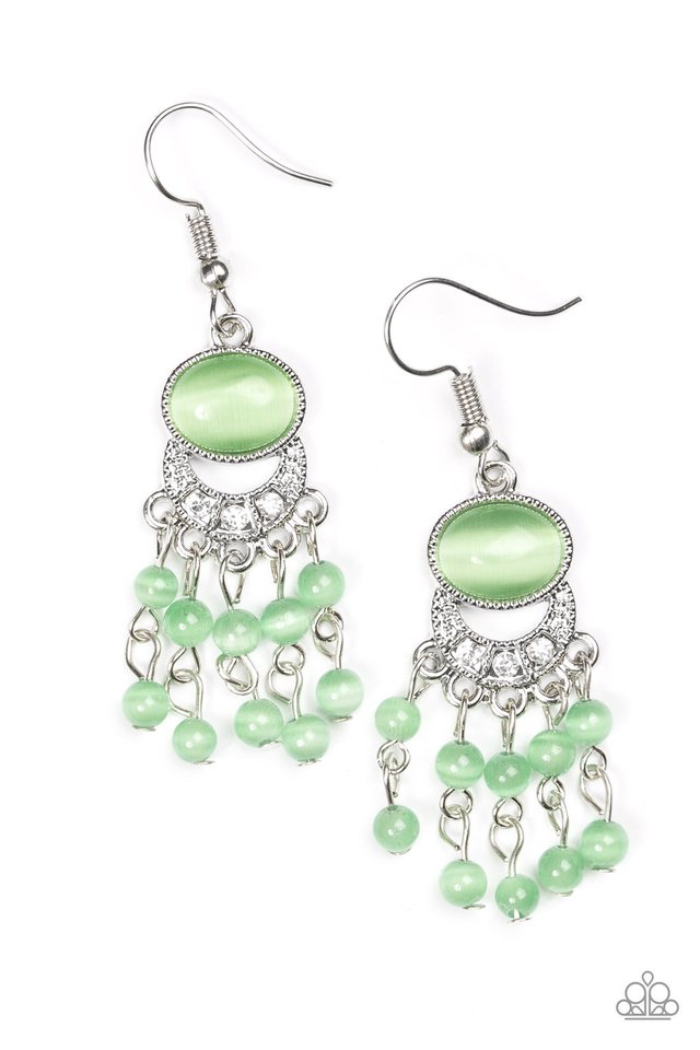 A Spring State Of Mind Green Earring