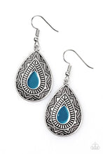 Load image into Gallery viewer, Desert Storm Blue Earring