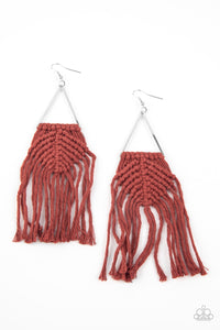Macrame Jungle Brown Earring
