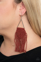 Load image into Gallery viewer, Macrame Jungle Brown Earring