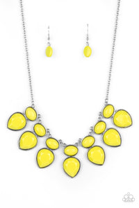 Modern Masquerade Yellow Necklace