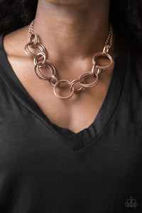 Jump Into The Ring Copper Necklace