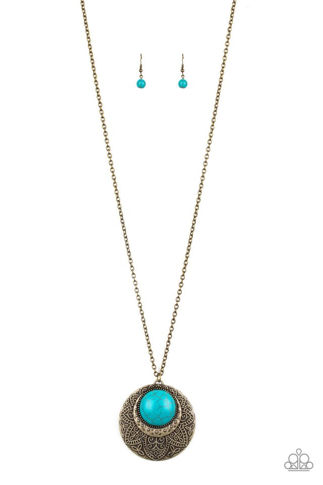 Medallion Meadow Brass Necklace