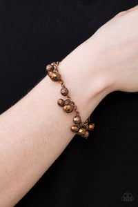 Brilliantly Burlesque Copper Bracelet