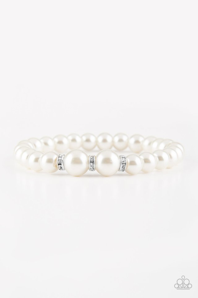 Radiantly Royal White Bracelet