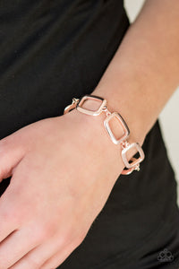 Basic Geometry Rose Gold Bracelet
