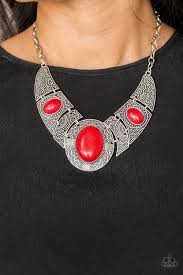 Leave Your LANDMARK Red Necklace