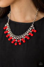 Load image into Gallery viewer, Friday Night Fringe Red Necklace
