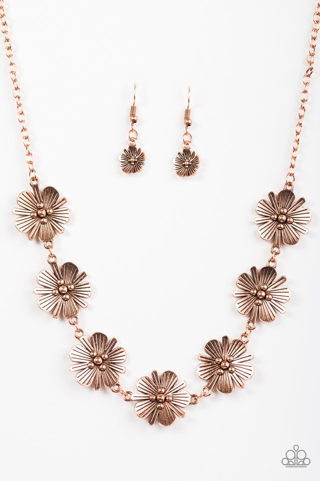 Poppin' Poppies Copper Necklace
