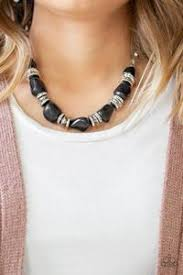 Stunningly Stone Age Black Necklace