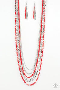 Industrial Vibrance Red Necklace